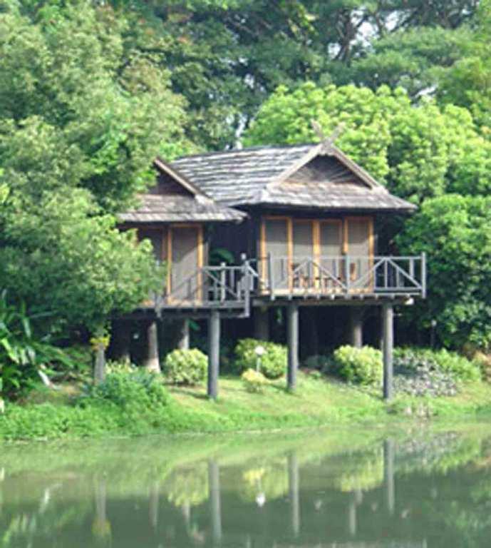 Hotel en un bungalow con vistas al r o hoteles originales for Bungalows dentro del mar