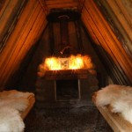 Interior de choza