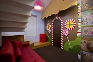 Habitación casita de chocolate